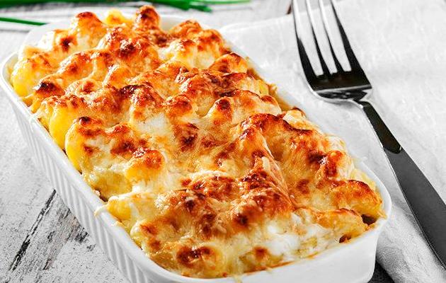 batata cremosa com queijo
