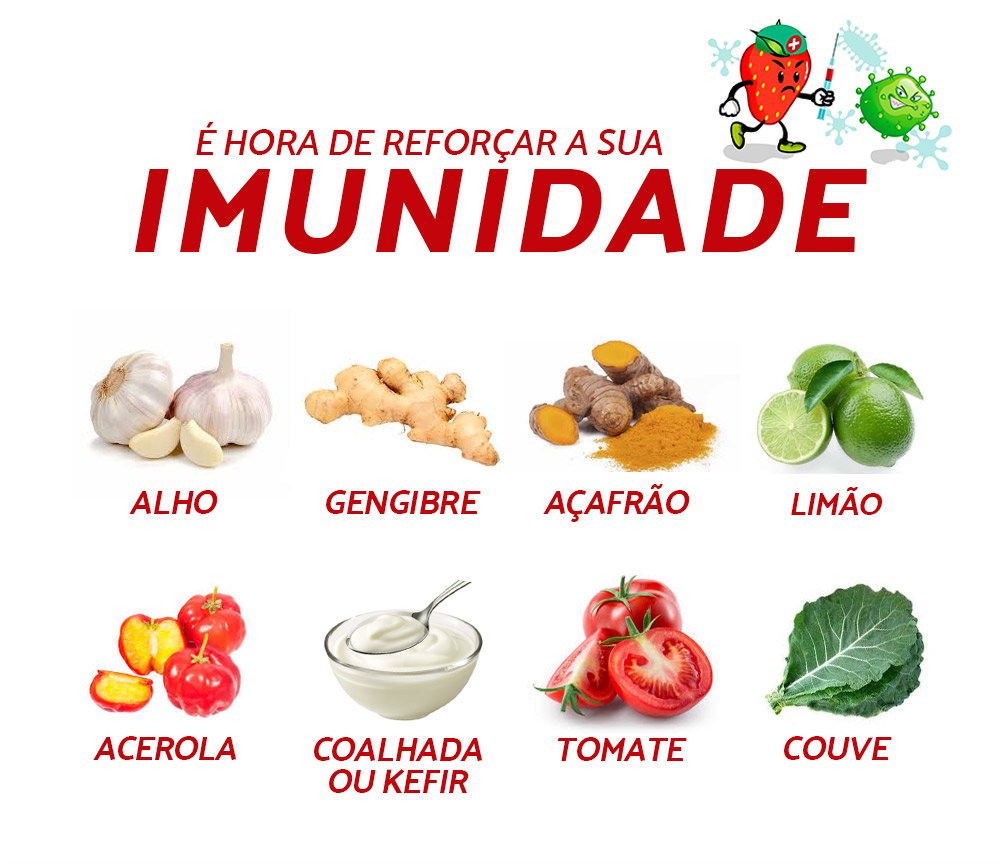 alimentos imunidade